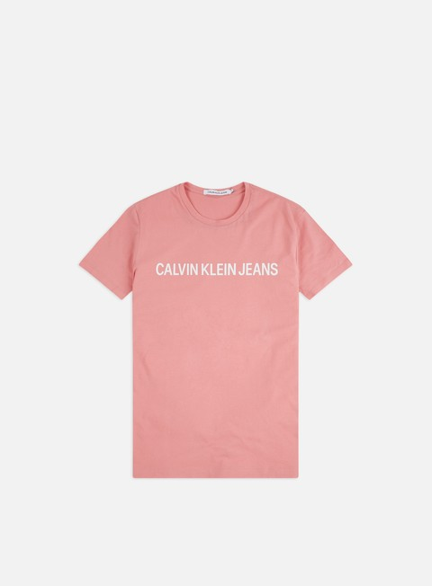 Outlet e Saldi T-shirt a Manica Corta Calvin Klein Jeans Institutional Slim Logo T-shirt