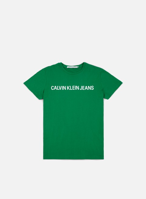 t shirt calvin klein jeans institutional slim logo t shirt jolly green