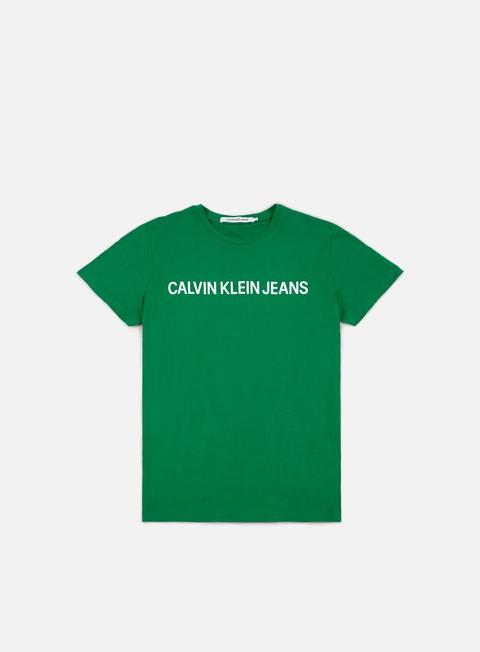 Short Sleeve T-shirts Calvin Klein Jeans Institutional Slim Logo T-shirt