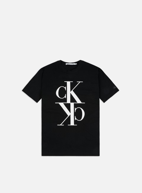 Short Sleeve T-shirts Calvin Klein Jeans Mirrored Monogram T-shirt