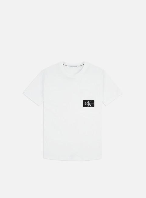 Outlet e Saldi T-shirt a Manica Corta Calvin Klein Jeans Mixed Media Nylon Pocket T-shirt