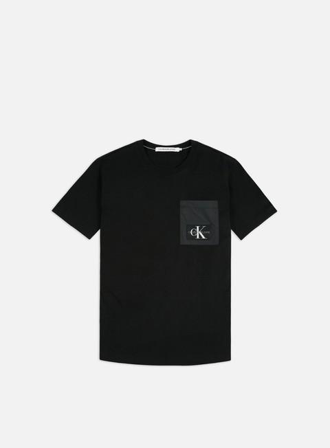 Short Sleeve T-shirts Calvin Klein Jeans Mixed Media Nylon Pocket T-shirt