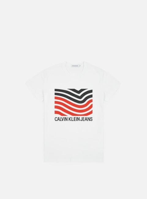 Outlet e Saldi T-shirt a Manica Corta Calvin Klein Jeans Modernist Logo Slim T-shirt