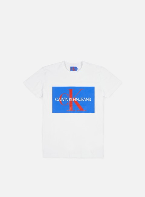 t shirt calvin klein jeans monogram box logo t shirt bright white regatta