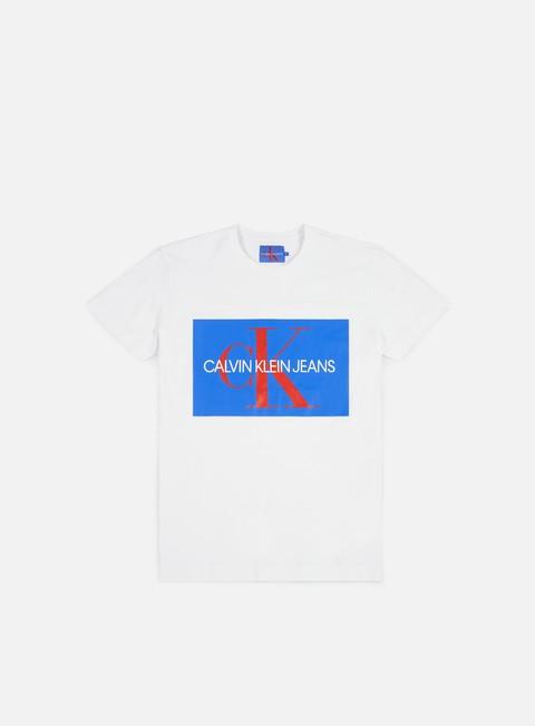 Outlet e Saldi T-shirt a Manica Corta Calvin Klein Jeans Monogram Box Logo T-shirt