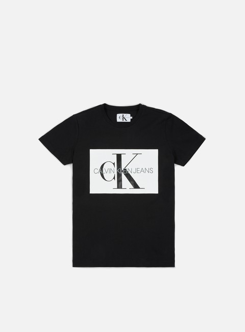 t shirt calvin klein jeans monogram box logo t shirt ck black bright white