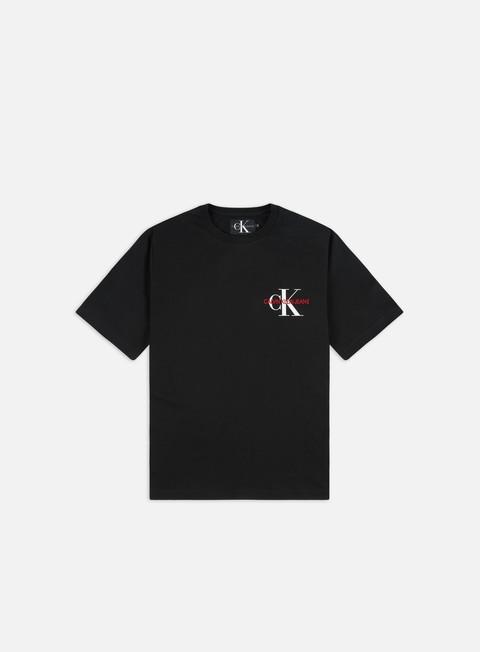 Short Sleeve T-shirts Calvin Klein Jeans Monogram Chest Embroidery Regular T-shirt