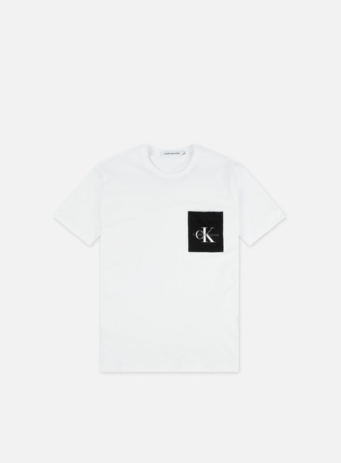 Short Sleeve T-shirts Calvin Klein Jeans Monogram Pocket Slim T-shirt