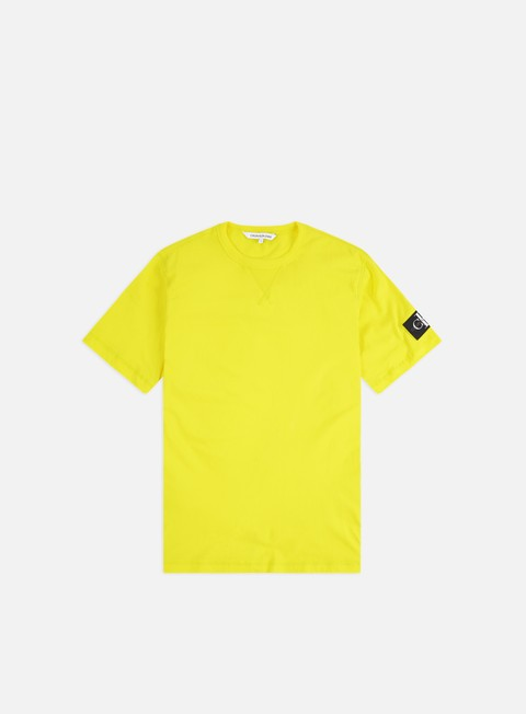 Outlet e Saldi T-shirt a Manica Corta Calvin Klein Jeans Monogram Sleeve Badge T-shirt