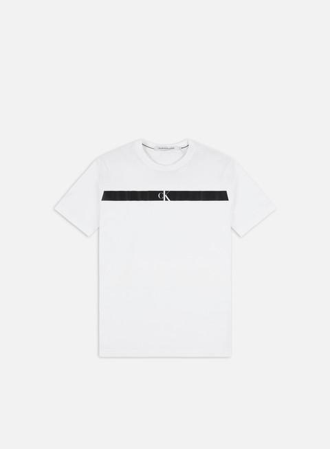 Outlet e Saldi T-shirt a Manica Corta Calvin Klein Jeans Organic Cotton Horizontal Panel T-shirt
