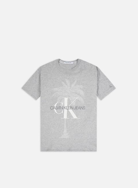 Outlet e Saldi T-shirt a Manica Corta Calvin Klein Jeans Palm Tree Monogram Slim T-shirt