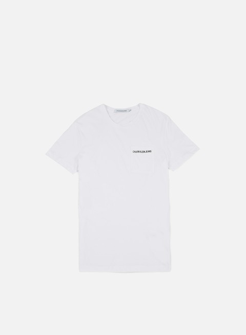 t shirt calvin klein jeans pocket institutional t shirt bright white