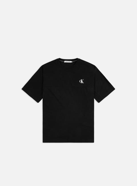 Short Sleeve T-shirts Calvin Klein Jeans Puff Print Black Logo T-shirt