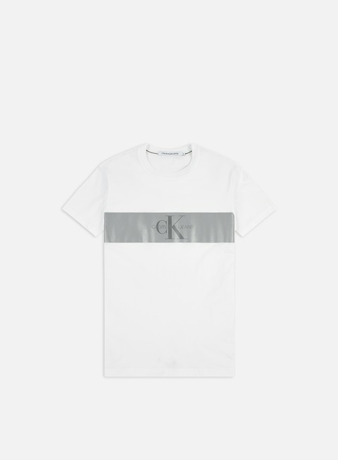 Short Sleeve T-shirts Calvin Klein Jeans Reflect Stripe Monogram Slim T-shirt