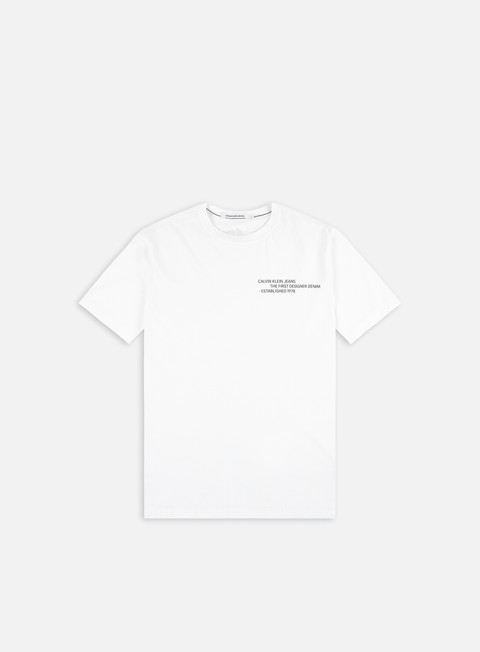 Short sleeve T-shirts Calvin Klein Jeans Reptile Back Graphic T-shirt