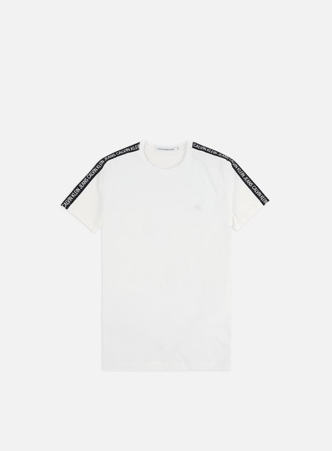 Outlet e Saldi T-shirt a Manica Corta Calvin Klein Jeans Sleeves Logo Insititutional T-shirt