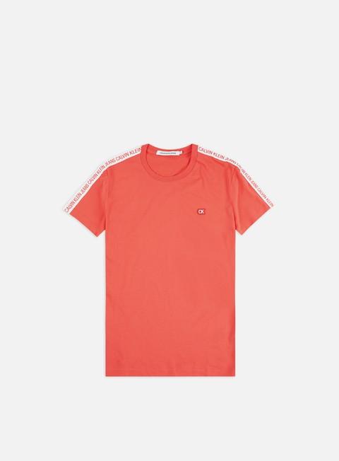 Outlet e Saldi T-shirt a Manica Corta Calvin Klein Jeans Sleeves Logo Insititutional T-shirt