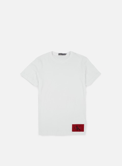 t shirt calvin klein jeans takoda t shirt bright white tango red