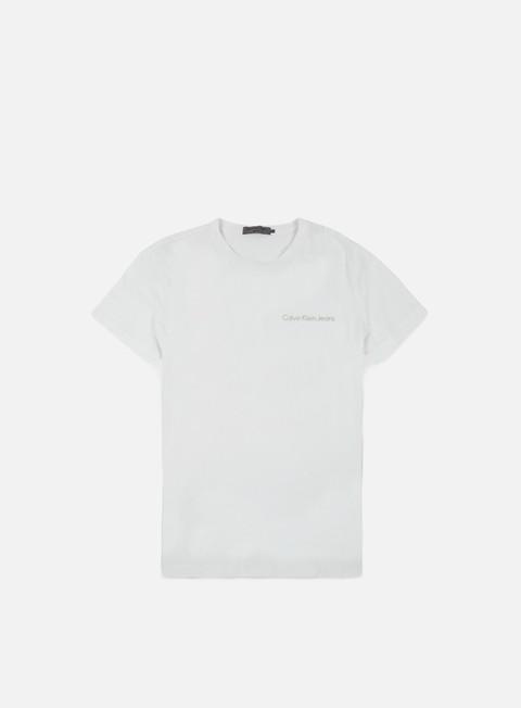 t shirt calvin klein jeans typoko t shirt bright white