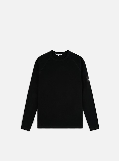 Long Sleeve T-shirts Calvin Klein Jeans Waffle Monogram LS T-shirt