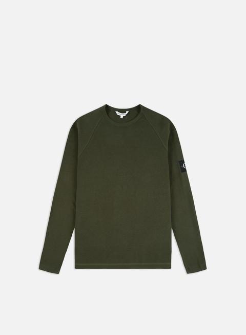 Outlet e Saldi T-shirt a Manica Lunga Calvin Klein Jeans Waffle Monogram LS T-shirt