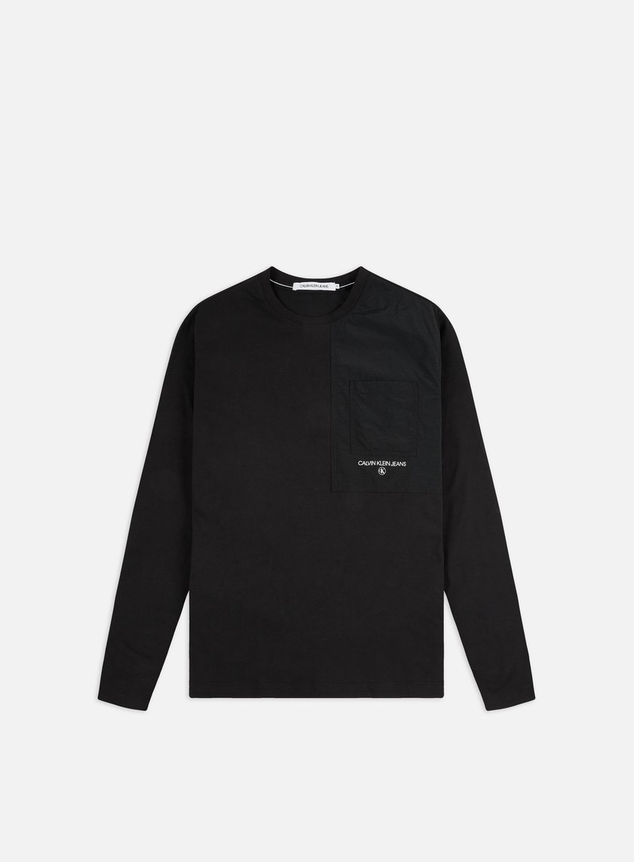 Calvin Klein Jeans Woven Utility Pocket LS T-shirt