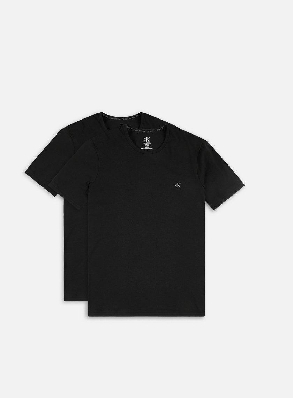 Calvin Klein Underwear Cotton Stretch Lounge Crewneck T-shirt 2 Pack
