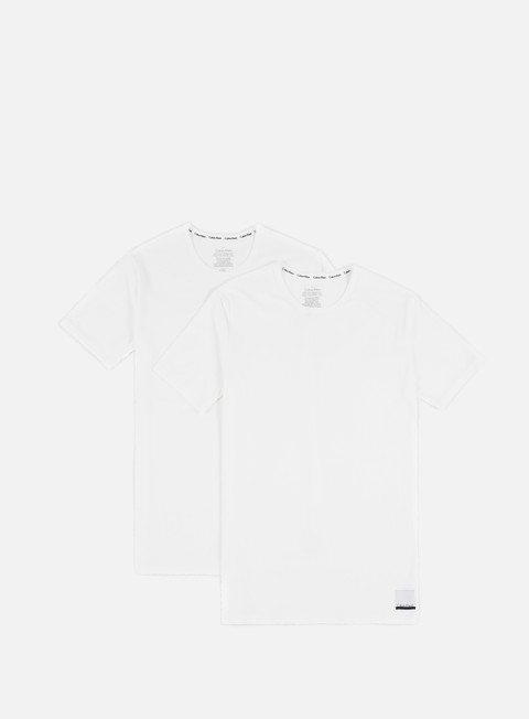 Outlet e Saldi T-shirt a Manica Corta Calvin Klein Underwear ID Cotton Lounge Crewneck T-shirt 2 Pack