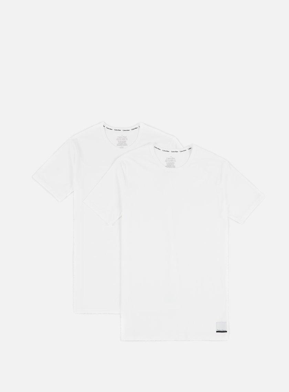 Calvin Klein Underwear - ID Cotton Lounge Crewneck T-shirt 2 Pack, White