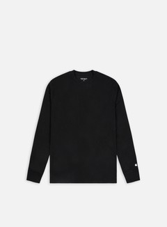 Carhartt - Base LS T-shirt, Black/White