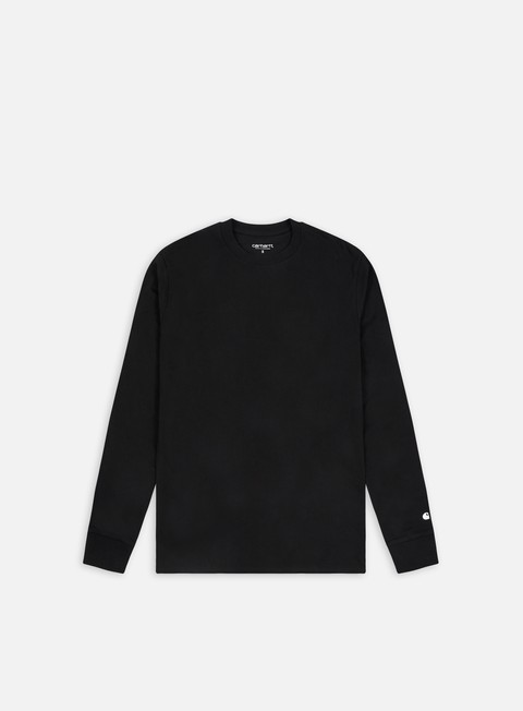 t shirt carhartt base ls t shirt black white