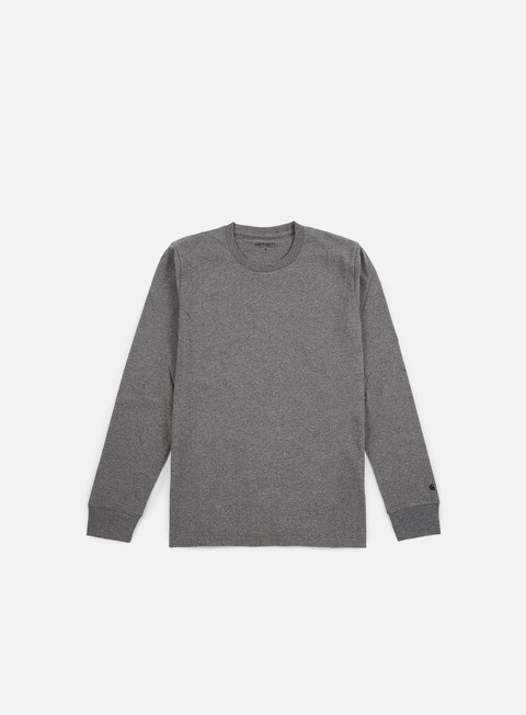 t shirt carhartt base ls t shirt dark grey heather black