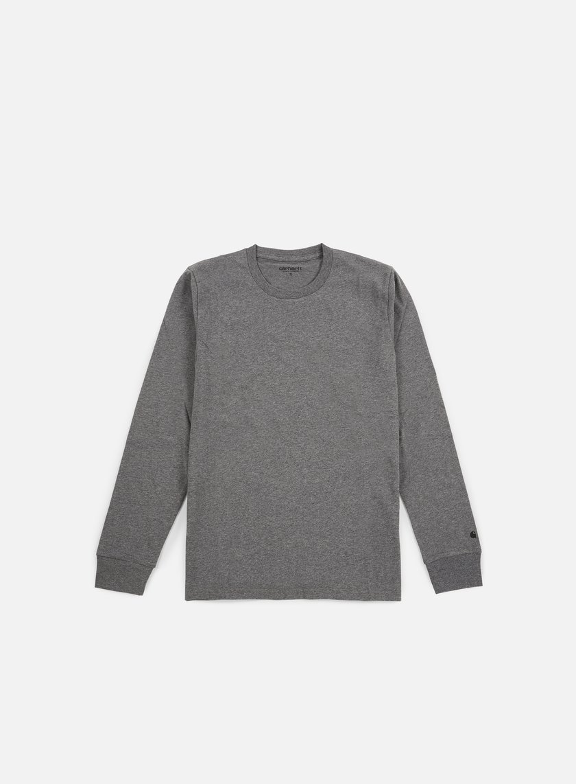 Carhartt - Base LS T-shirt, Dark Grey Heather/Black