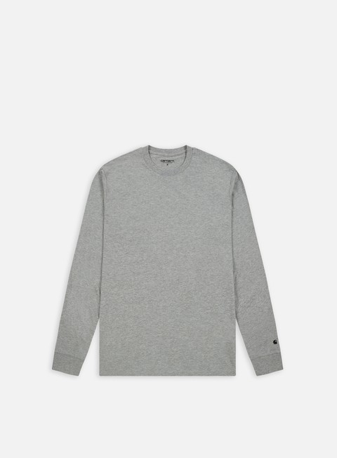 t shirt carhartt base ls t shirt grey heather black