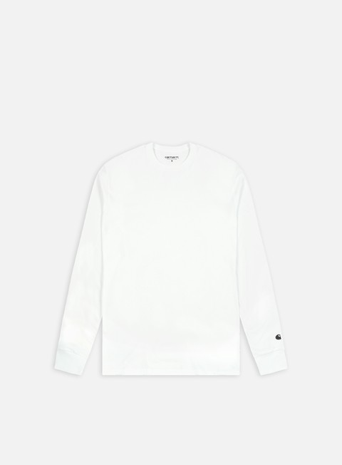 t shirt carhartt base ls t shirt white black