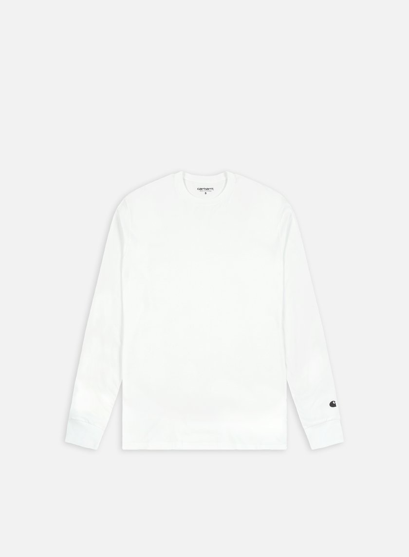 Carhartt - Base LS T-shirt, White/Black
