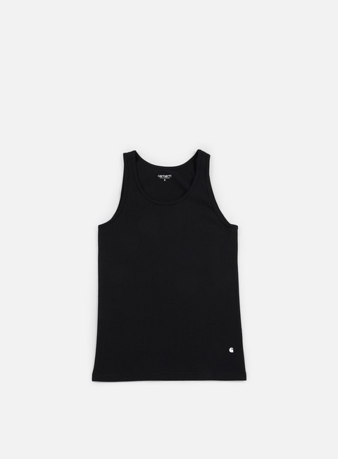t shirt carhartt base tank top black white