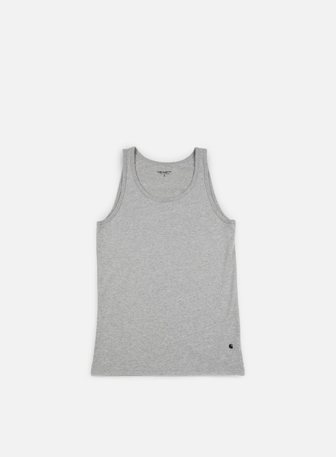 t shirt carhartt base tank top grey heather black