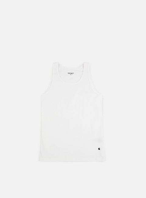 t shirt carhartt base tank top white black