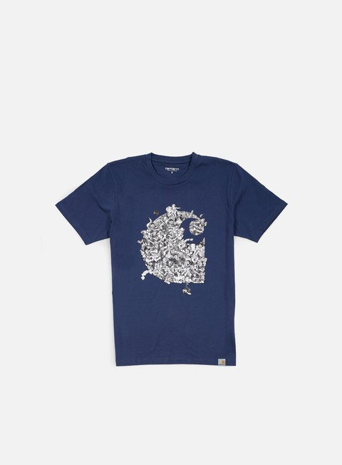 t shirt carhartt brawl t shirt blue multi