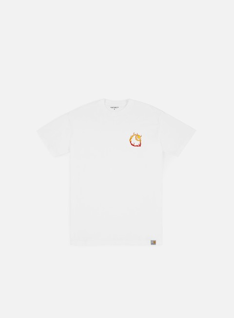 t shirt carhartt burning c t shirt white