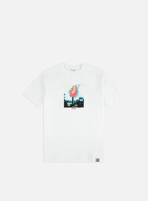 Outlet e Saldi T-shirt a Manica Corta Carhartt Burning Palm T-shirt