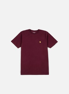 Carhartt - Chase T-shirt, Amarone Heather/Gold 1