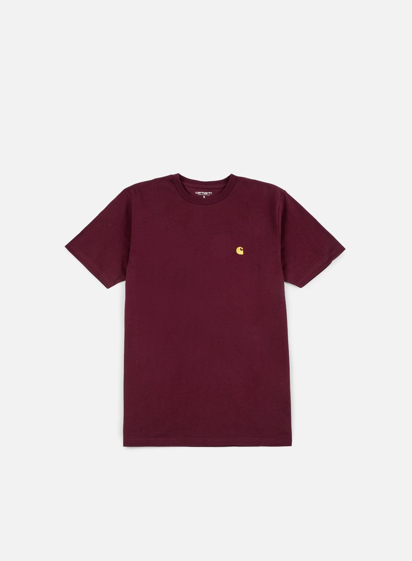 Carhartt - Chase T-shirt, Amarone Heather/Gold
