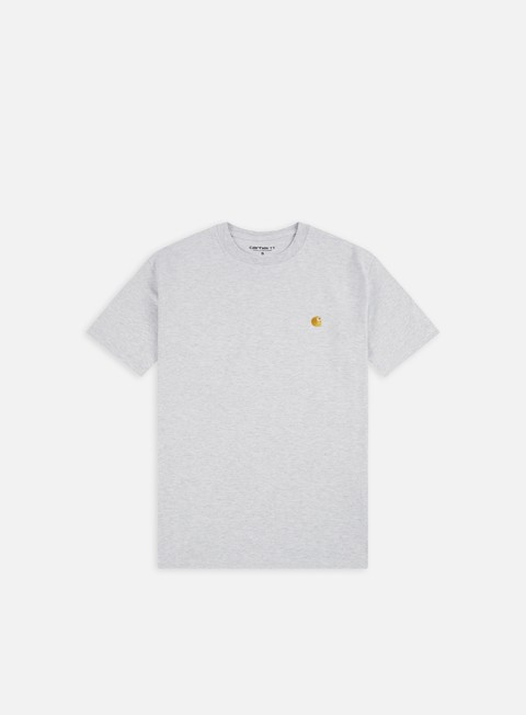 t shirt carhartt chase t shirt ash heather gold