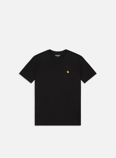 t shirt carhartt chase t shirt black gold