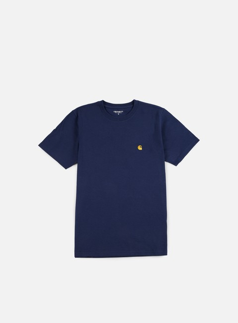 t shirt carhartt chase t shirt blue gold