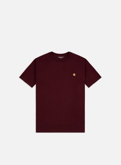 Carhartt - Chase T-shirt, Bordeaux/Gold