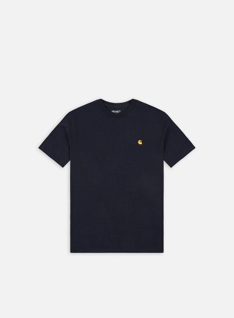 t shirt carhartt chase t shirt dark navy gold