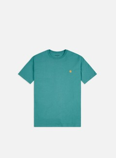 Carhartt - Chase T-shirt, Frosted Turquoise/Gold